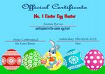 Easter Certificate Design 3